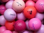 Golfbaelle Pink/Rosa/Rot Mix - Qualit�t: AAA